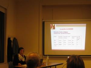 Le Docteur Sonia Gsir présente les chiffres